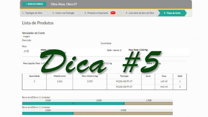 DICA 5:  Otimizar planos de cortes de materiais